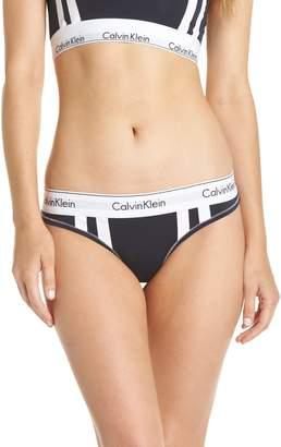 Calvin Klein Modern Cotton Blend Stripe Thong