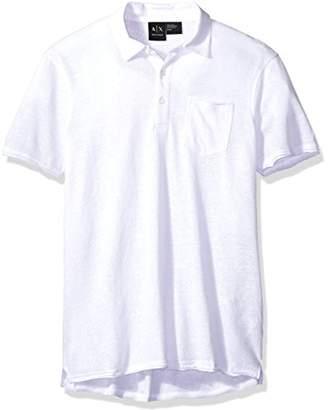 Armani Exchange A|X Men's Cotton Linen Polo