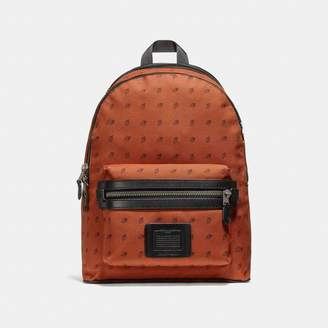 Coach Academy Backpack With Dot Diamond Print