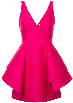 Halston short ruffle dress