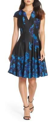 Julia Jordan Fit & Flare Scuba Dress