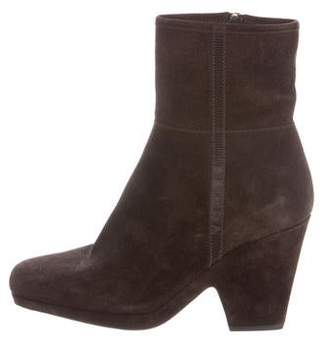Prada Sport Suede Round-Toe Boots