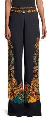 Etro Wide Leg Paisely Print Pants
