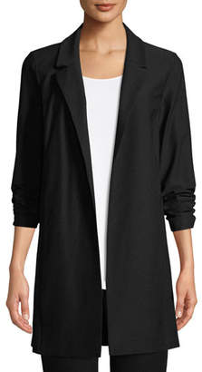Eileen Fisher Open-Front Long-Sleeve Stretch Crepe Jacket