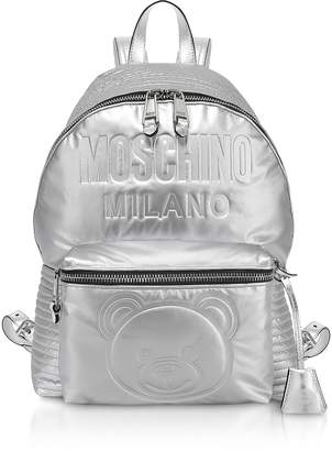 Moschino Space Teddy Eco-Leather Backpack