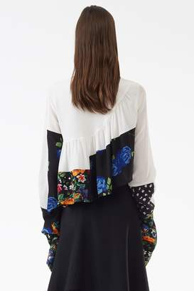 3.1 Phillip Lim Ruffle-Layered Floral Blouse