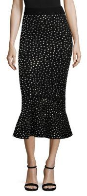 Michael Kors Collection Studded Flounce Skirt