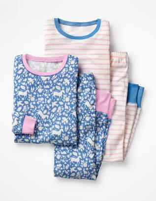 Boden Twin Pack Long John Pyjamas