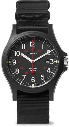 Timex Acadia Resin And Grosgrain Watch