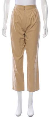 Dolce & Gabbana High-Rise Straight-Leg Pants Khaki High-Rise Straight-Leg Pants