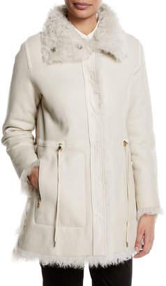 Yves Salomon Reversible Shearling Fur Coat