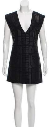Maiyet Leather Appliqué Sleeveless Dress