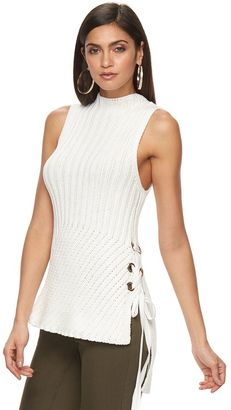 Women's Jennifer Lopez Lace-Up Sleeveless Sweater $54 thestylecure.com
