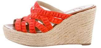 Christian Louboutin Ruched Espadrille Wedges