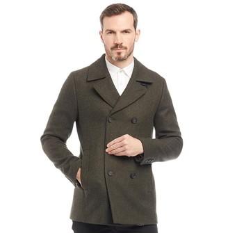 9f77631eaf202b Ted Baker Mens Zachary Wool Pea Coat Dark Green