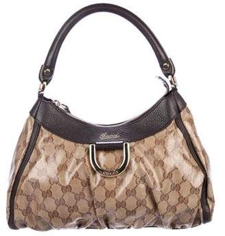 Pre Owned At Therealreal Gucci Gg Crystal D Ring Hobo
