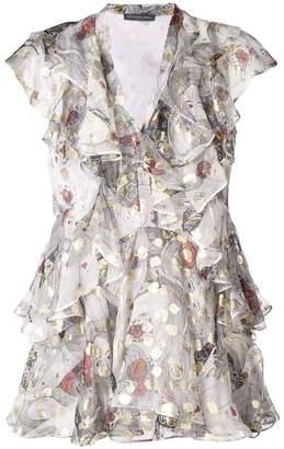 Alexander McQueen rose frill blouse
