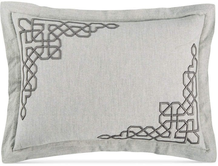 Embroidered Fretwork King Sham, Created for Macy's Bedding
