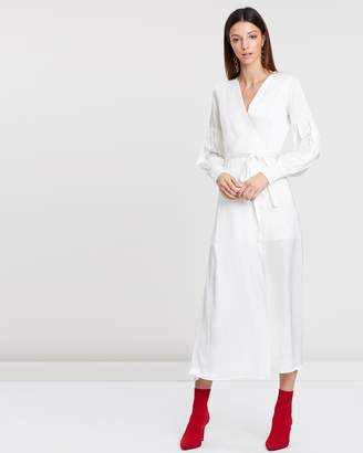Theiry Wrap Long Dress