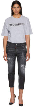 DSQUARED2 Black Cool Girl Cropped Jeans