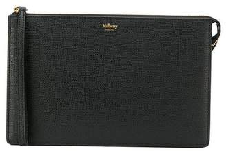 Mulberry textured leather clutch