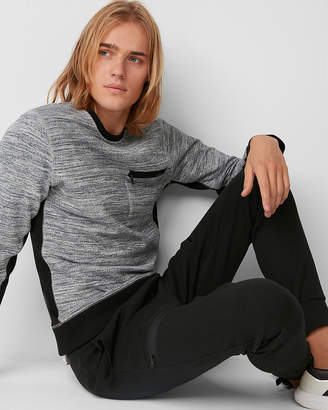 Express Marled Knit Crew Neck Tee