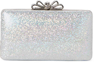 La Regale Silver Bow Shimmer Convertible Clutch