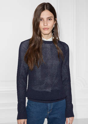 And other stories Micro Honeycomb Knit Sweater