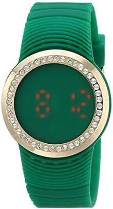 Faceless Touch Screen LED Digital Crystal Case Rubber Sports Cool Easy to Read Big Number Watch TK644GR
