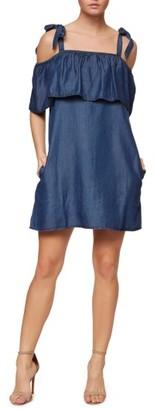 Women's Sanctuary Sigrid Chambray Tie Shoulder Dress $139 thestylecure.com