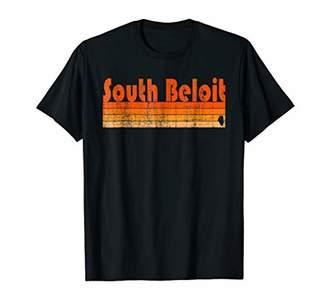 Retro 80s Style South Beloit IL T-Shirt