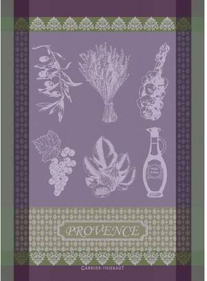 Garnier Thiebaut Garnier-Thiebaut 100-Percent Cotton Provence Lavande Kitchen Towel, 22 by 30-Inch