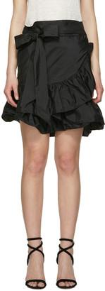 Isabel Marant Black Aurora Miniskirt $590 thestylecure.com