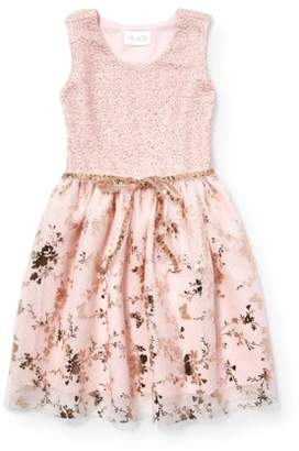af0e3fb7a Children's Place The Allover Butterfly Easter Dress (Little Girls & Big ...