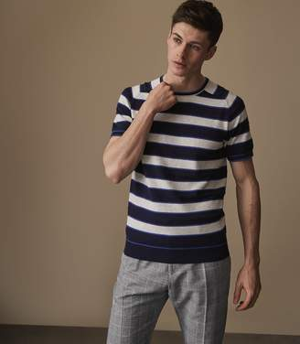 Reiss Alfio - Striped Top in Navy