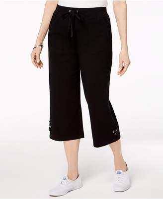 Karen Scott Drawstring Capri, Created for Macy's