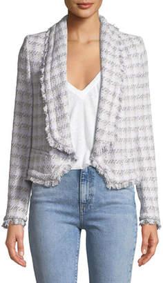 IRO Quill Open-Front Tweed Jacket