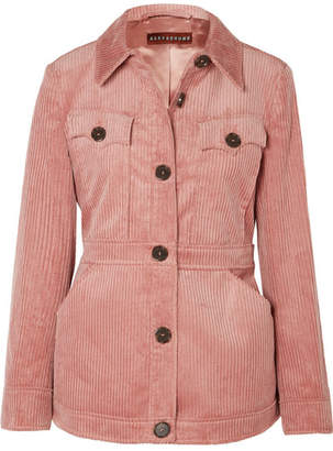 ALEXACHUNG Cotton-blend Corduroy Jacket - Pink