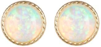 Candela 10K Gold 6mm Bezel Set Opal Stud Earrings