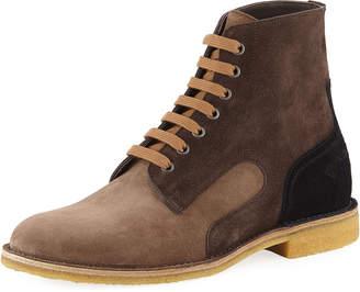 Bottega Veneta Men's Spritz Suede Lace-Up Boots