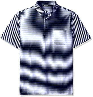 Bugatchi Men's Dominic Short Sleeve Striped Polo Shirt