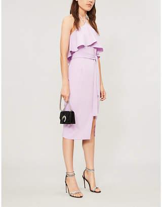 Lavish Alice Halter-neck sleeveless stretch-woven midi dress