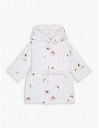 Freya The Little White Company floral print cotton dressing gown 1-6 years