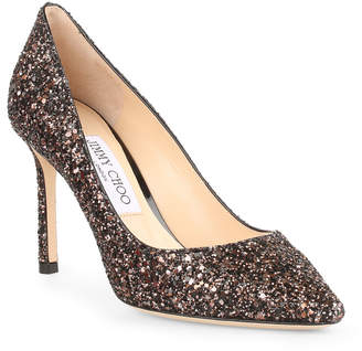 Jimmy Choo Romy 85 bronze glitter pumps