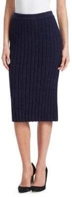 Gentry Portofino Rib Knit Pencil Skirt