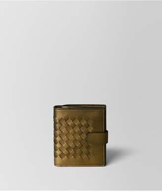 Bottega Veneta Dark Gold Intrecciato Nappa Mini Wallet