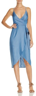 Lovers and Friends Orchid Chambray Wrap Effect Dress $150 thestylecure.com