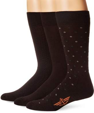 Dockers 3 Pack Cushion Dress - Ultimate Fit Alternating Circles Socks