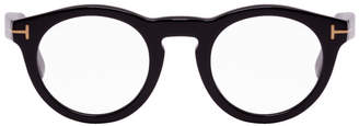 Tom Ford Black Soft Round Glasses