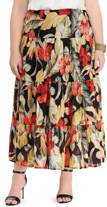 Chaps Plus Size Crinkle Skirt